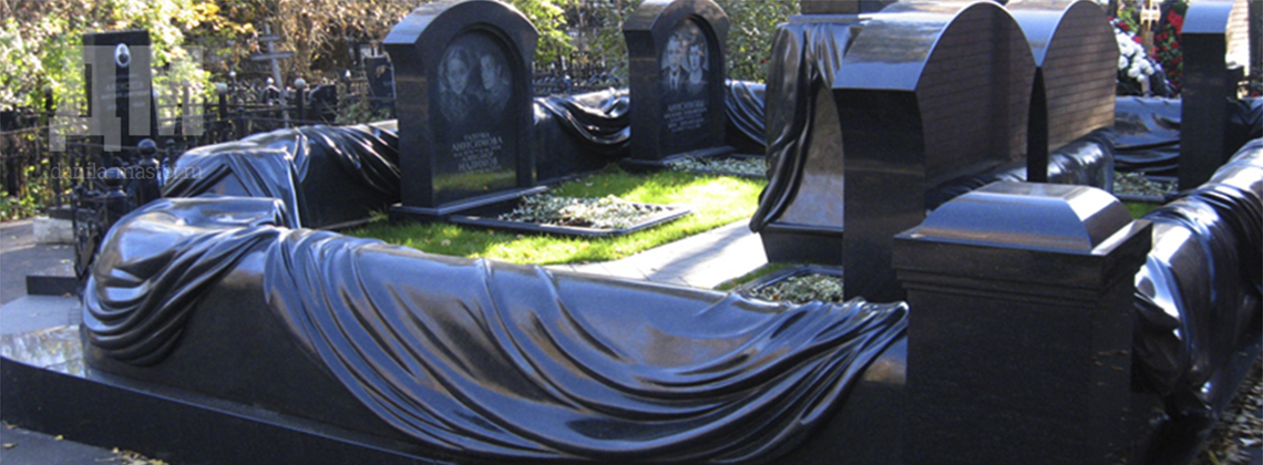 Подбор памятников Медногорск Мемориальный комплекс из малинового кварцита и гранитов Людиново