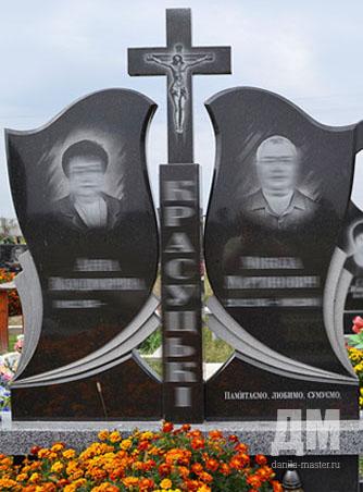 Памятник с крестом на просвет Новоалександровск одинарный памятник с крестом